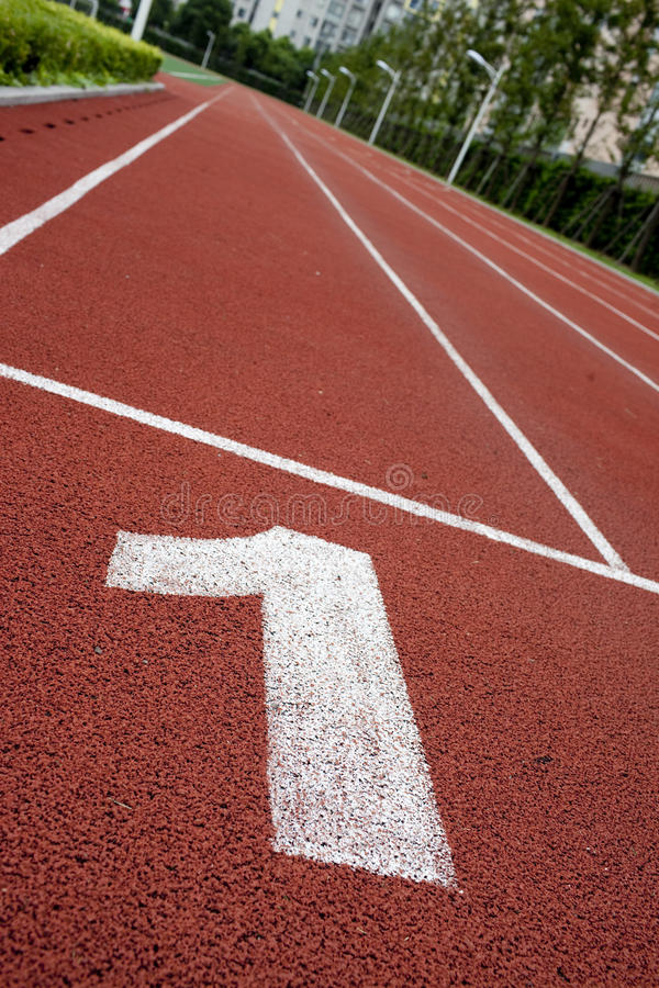Number in the red track royalty free stock photos