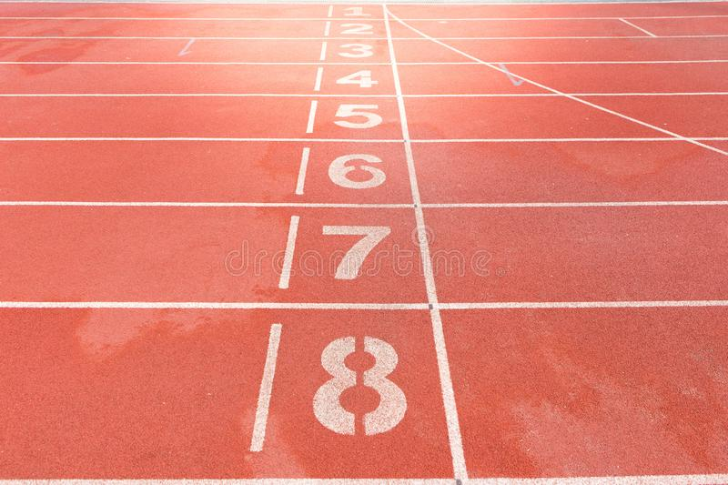 Number on red Track royalty free stock photo