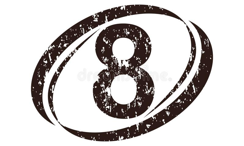 Number 8 Rough Logo royalty free illustration