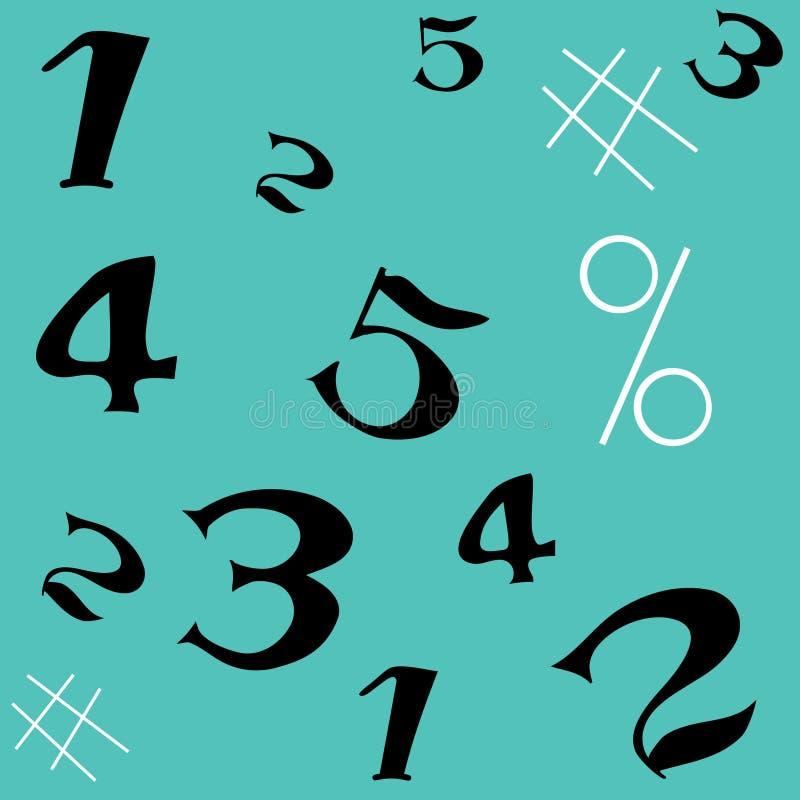 Number seamless pattern stock photos