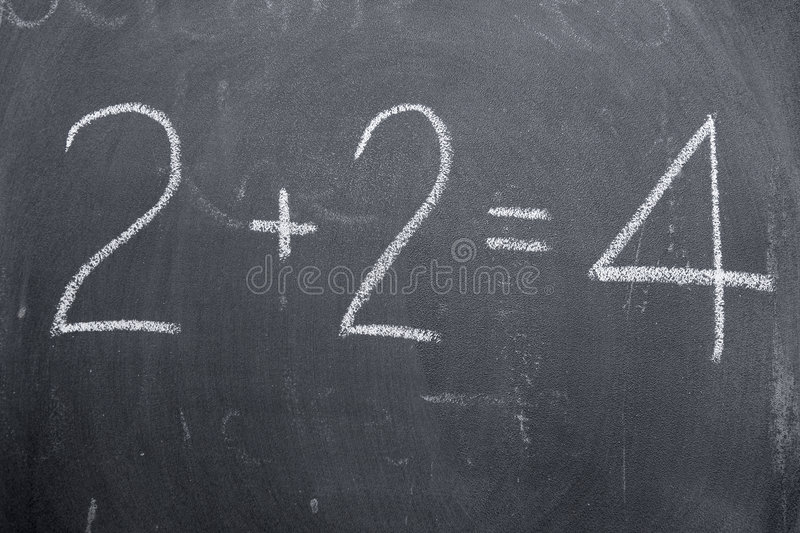 Number Sentence Royalty Free Stock Photography