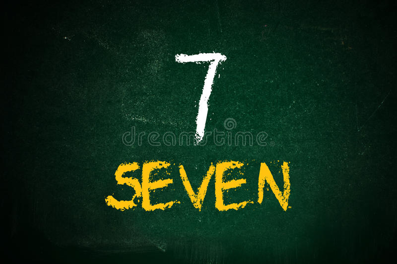 Number seven royalty free stock photos