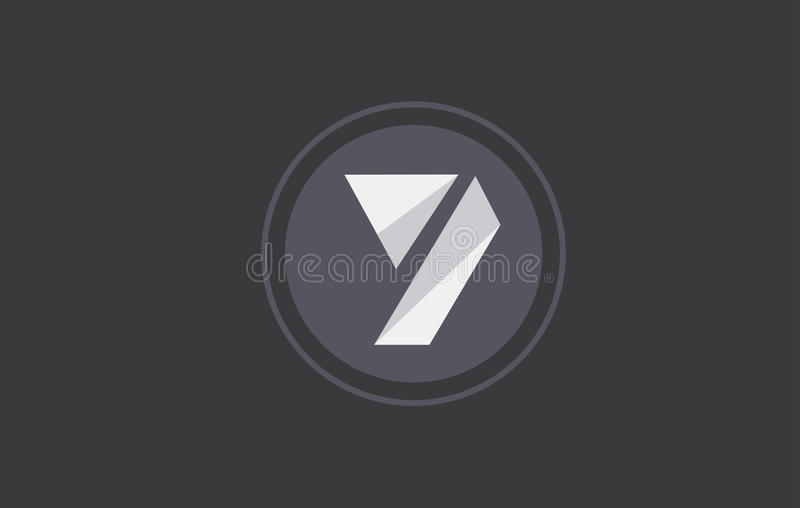 Number 7 seven logo icon design. Number 7 seven black white geometric abstract grey vector logo icon sign design template royalty free illustration