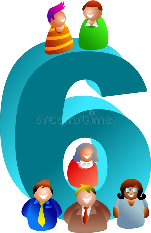 Download Number six stock illustration. Image of educational, learning - 513042