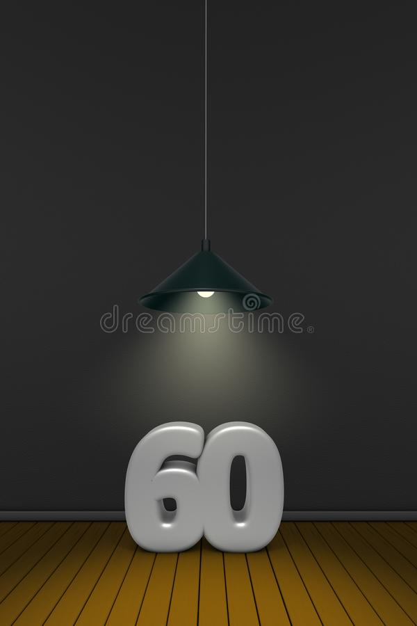 Number sixty vector illustration