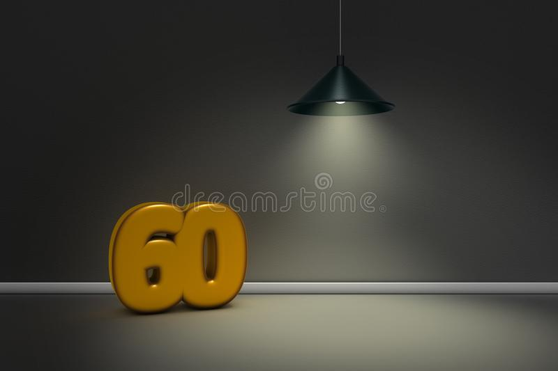 Number sixty royalty free illustration