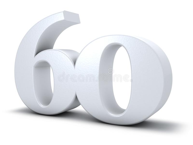 Number sixty stock illustration