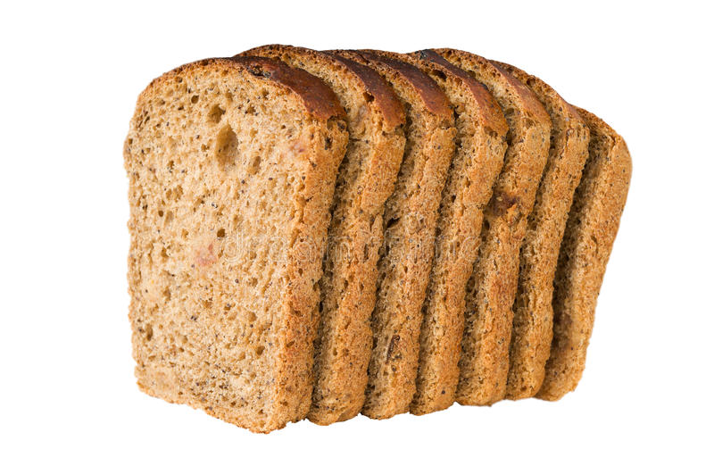 A number of slices of bread with raisin