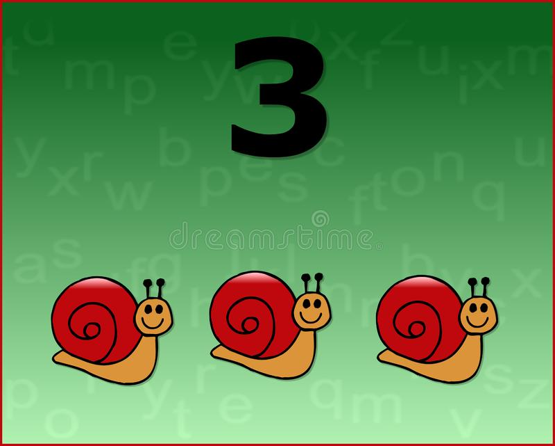 Download Number snail stock illustration. Illustration of draw - 6777436