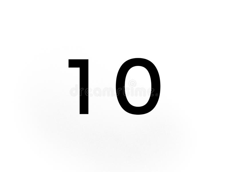 Number Ten 10 In Black Color On White Background Stock Illustration Illustration Of Black Color 149596739