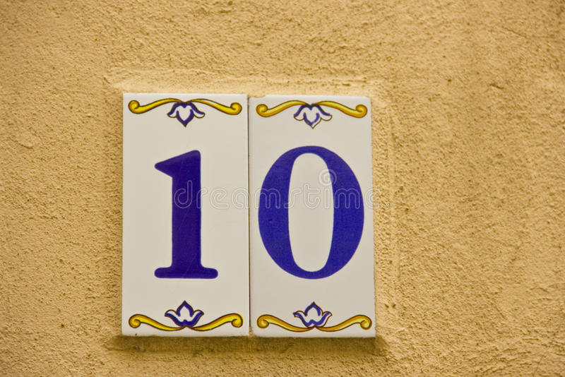 Number ten royalty free stock images