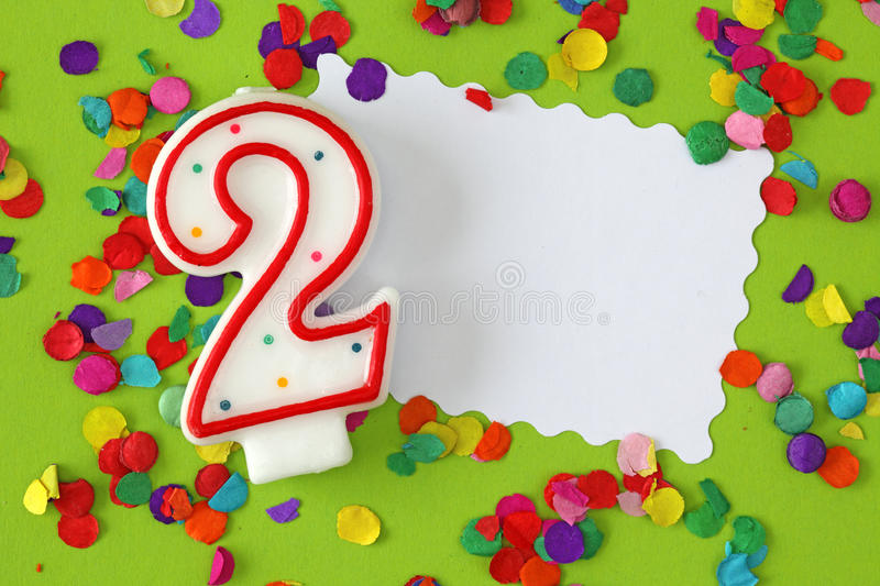 Download Number two birthday candle stock image. Image of party - 12867725