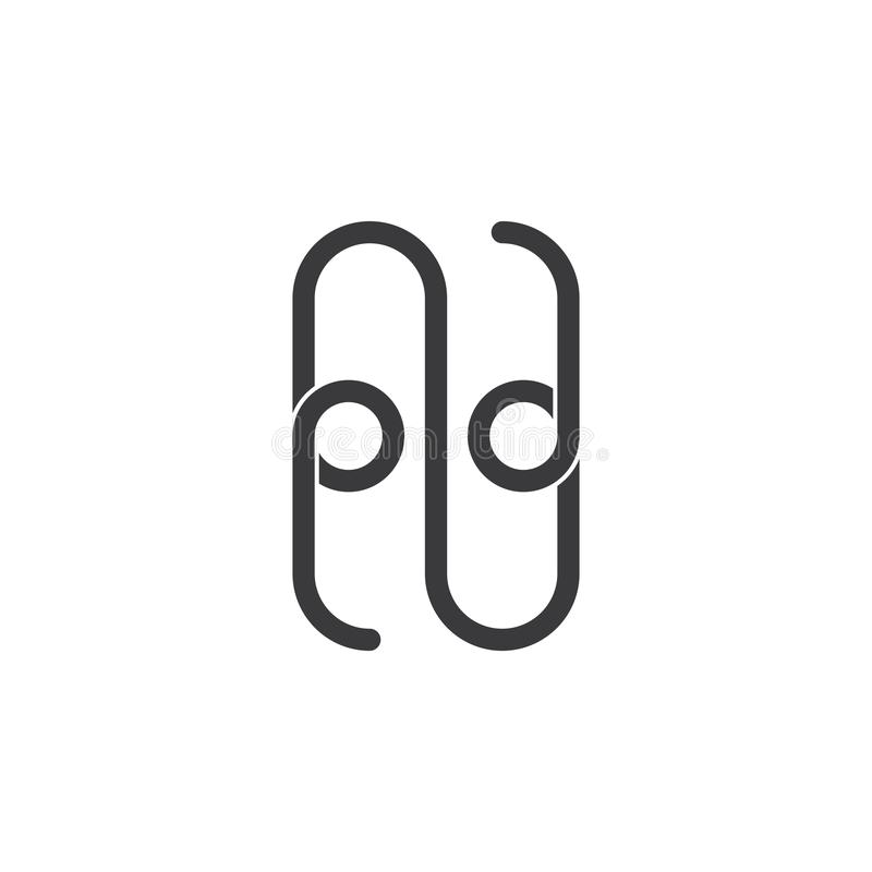 Free Number Two Letter Z Paper Clip Line Design Logo Vector Royalty Free Stock Image - 149232816