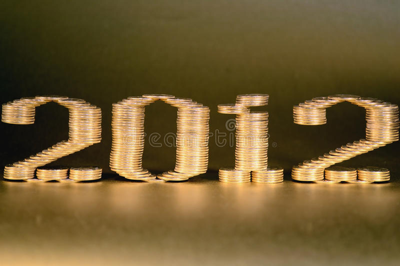 Number Two Thousand Twelfth Laid Stacks Of Coins Stock Photography