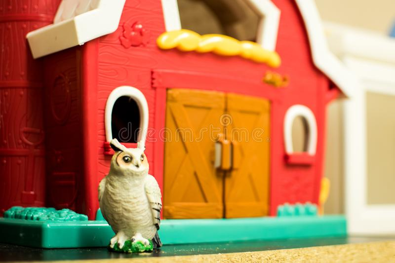 Play time at the Daycare. A number of types of toys found at a simple daycare, kindergarten class, or even in one`s home royalty free stock image