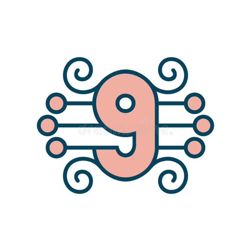 Number 9 vector sign vector illustration