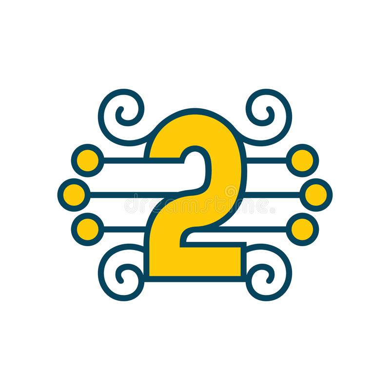 Number 2 vector sign vector illustration