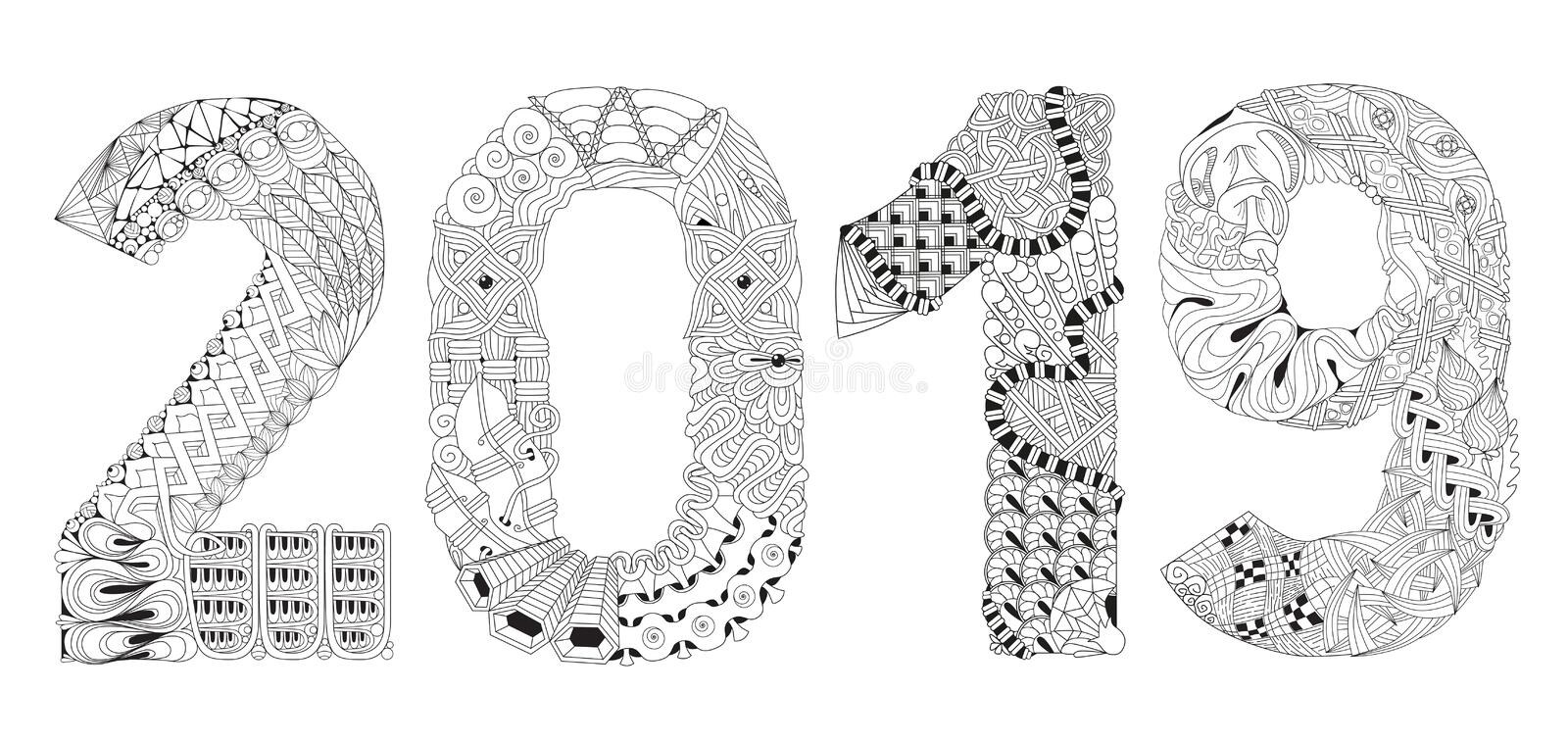 Happy New Year 9 Coloring Pages HD Printable Photos, Images ...