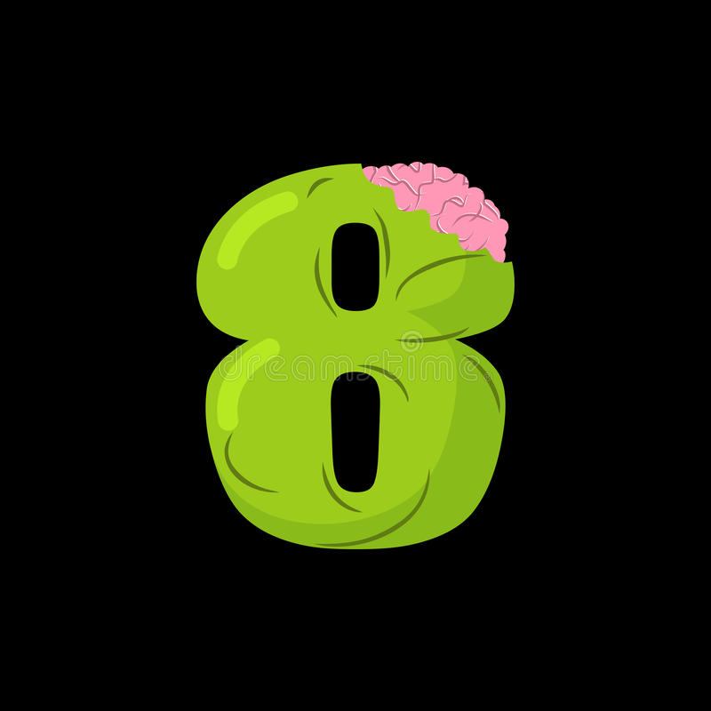 Number 8 Zombie Monster Font Eight Bones And Brains Alphabet