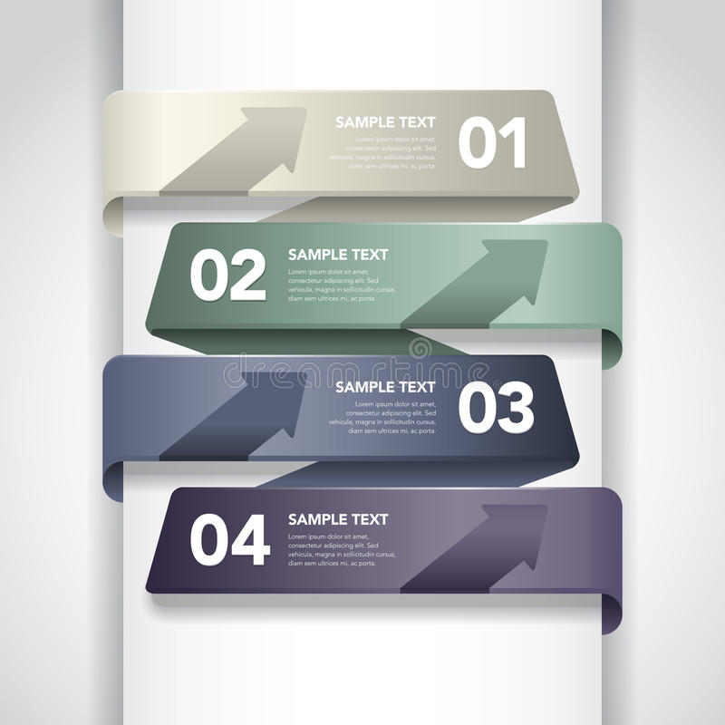 Download Numbered Banner Design stock vector. Image of paper, graphic - 28973954