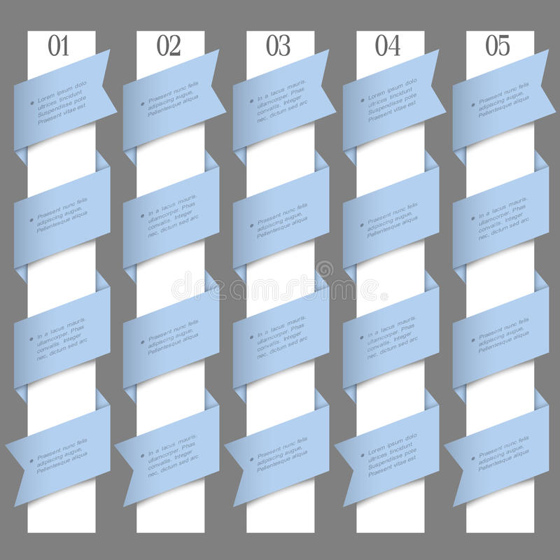 Download Numbered Banners In Origami Style Stock Vector - Illustration of graphic, choice: 28174431