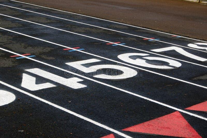 Download Numbered Black Track stock image. Image of meet, sport - 13951431