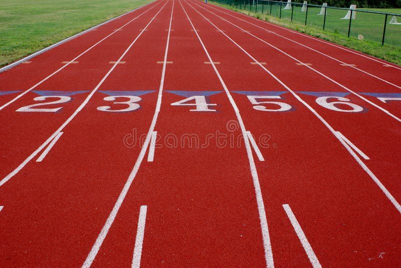 Numbered Lanes royalty free stock image