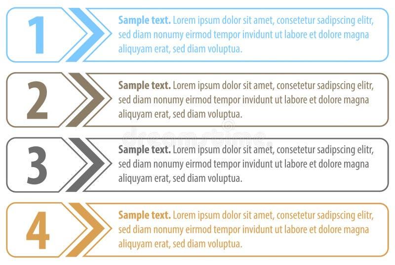Download Numbered outlined labels stock vector. Illustration of element - 32291948