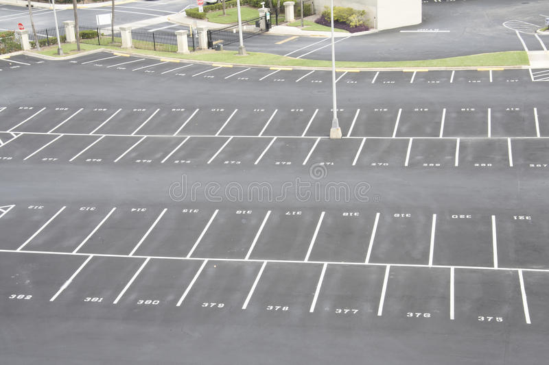 Numbered Parking Lot Royalty Free Stock Images