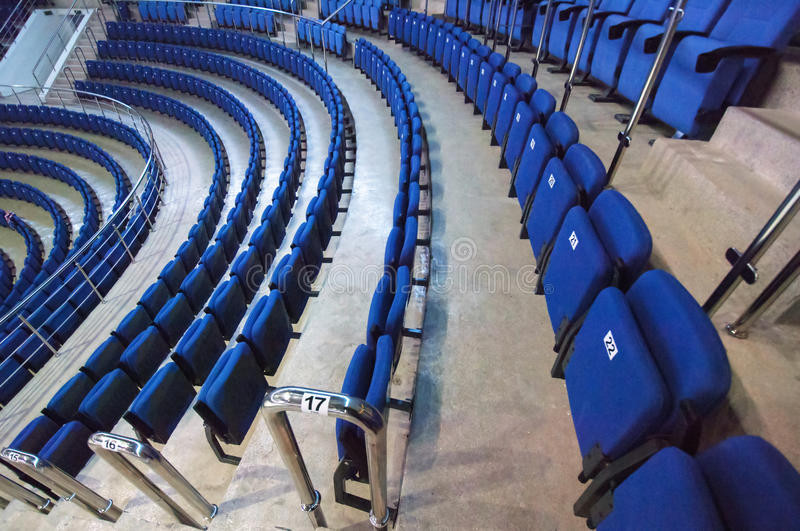 Numbered seats in row royalty free stock image