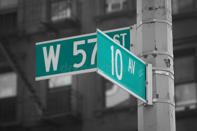 Numbered Streets royalty free stock photos