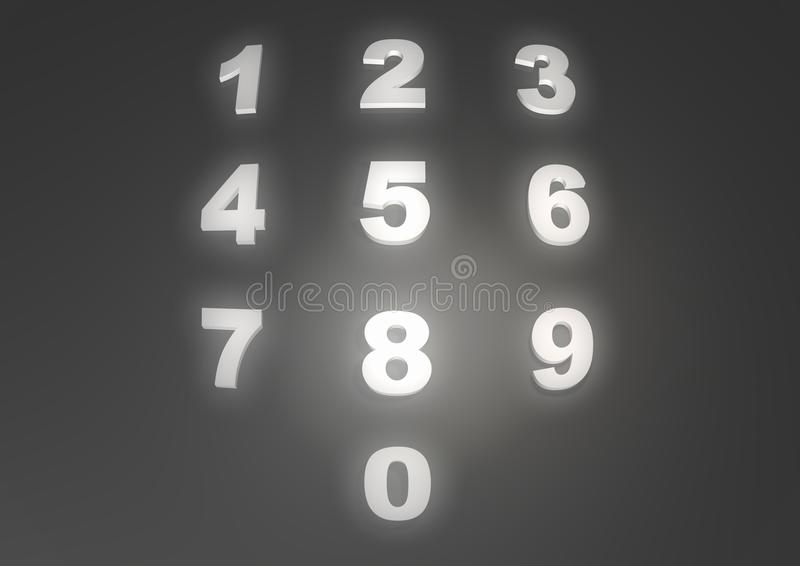 Numbers 0-9 royalty free illustration