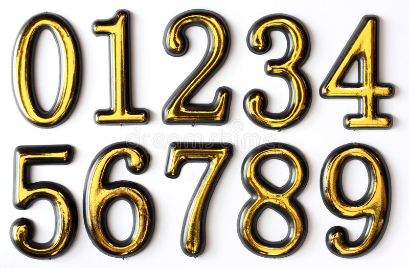 Download Numbers 0 to 9 stock image. Image of science, digits - 17977253