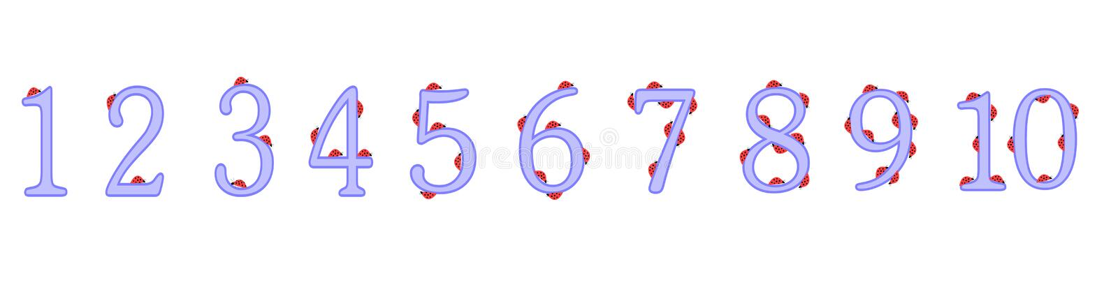 numbers 1 to 10 for childrens education royalty free stock image