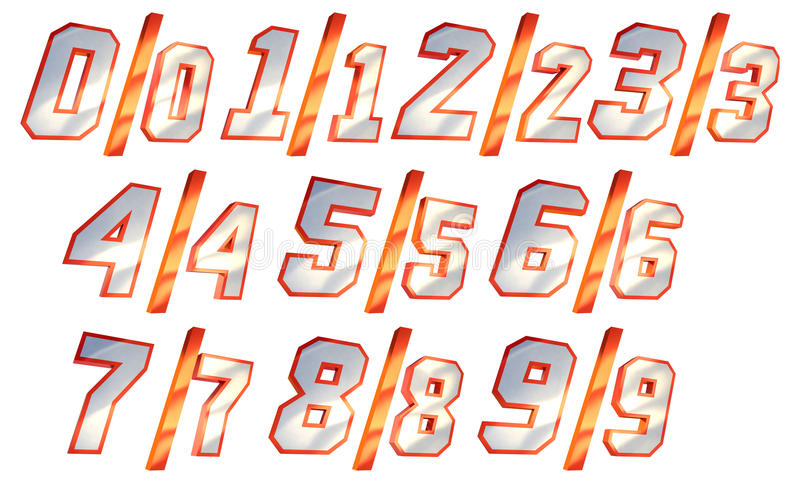 Download Numbers stock illustration. Image of perspective, numbers - 11448747
