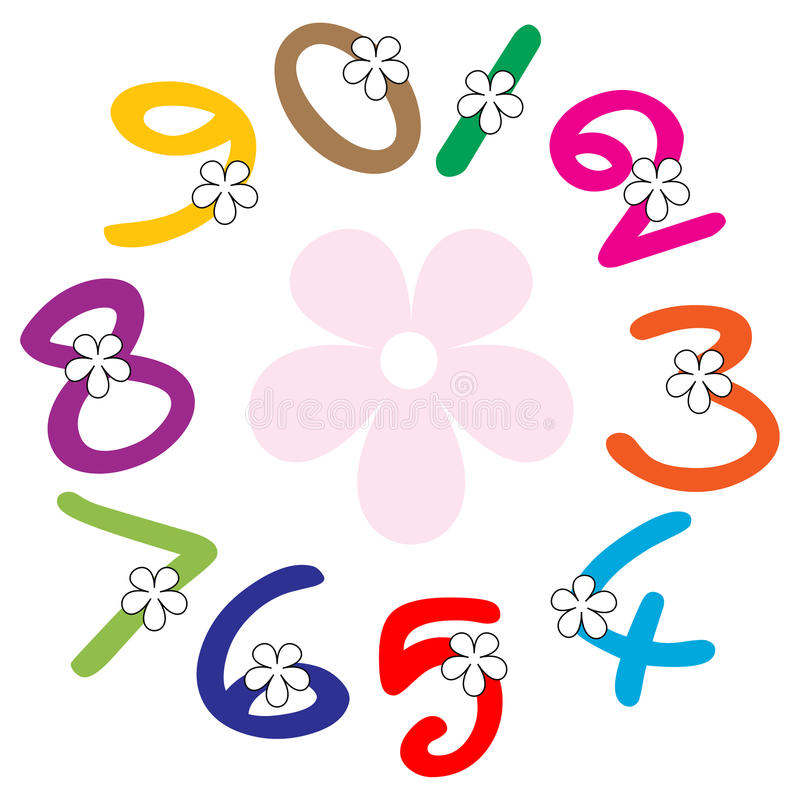 Numbers. Illustration of numbers on white background vector illustration