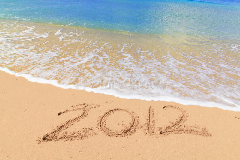 Download Numbers 2012 on beach stock image. Image of celebration - 24341883