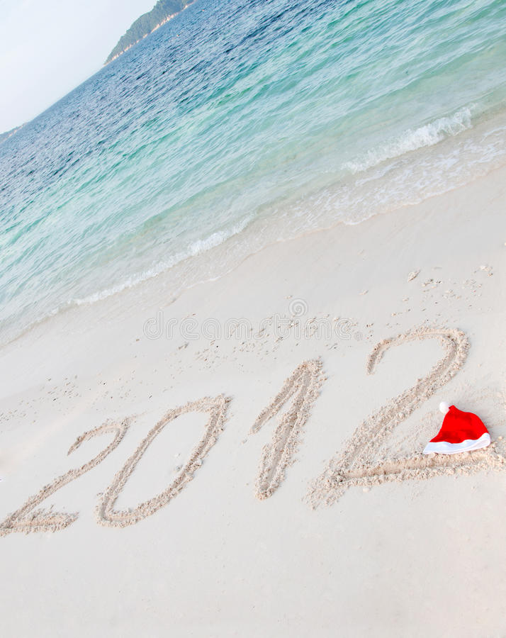 Download Numbers 2012 On Tropical Beach Sand Stock Image - Image of resort, journey: 22208567