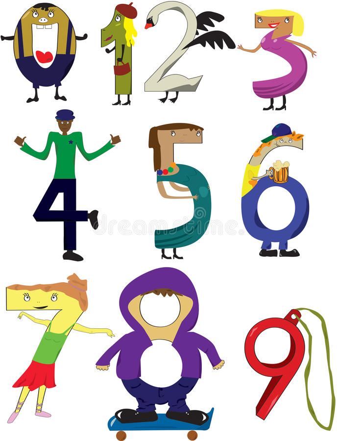 Download Numbers stock vector. Image of swan, numbers, suds, number - 21610548