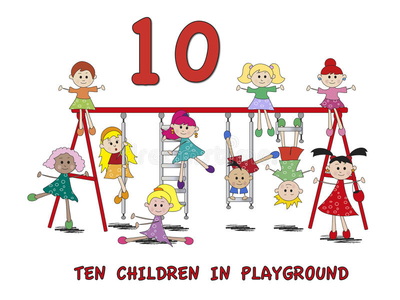 Download Numbers stock illustration. Image of swing, children - 28511823