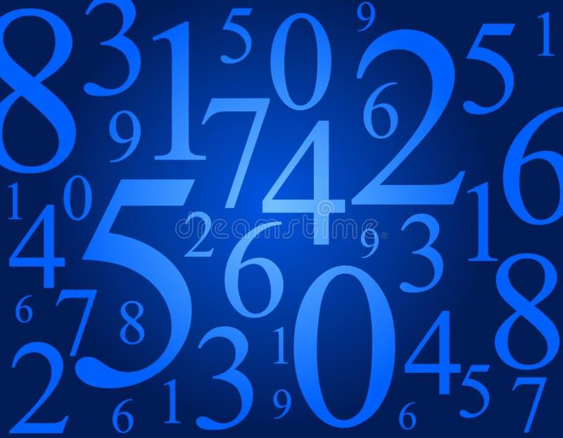 Numbers stock illustration