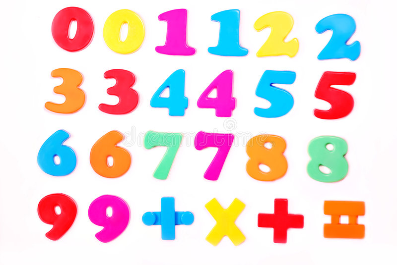Download Numbers stock image. Image of orange, knowledge, school - 4005609