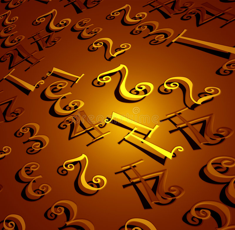 Download Numbers stock illustration. Image of backgrounds, conceptual - 4610035