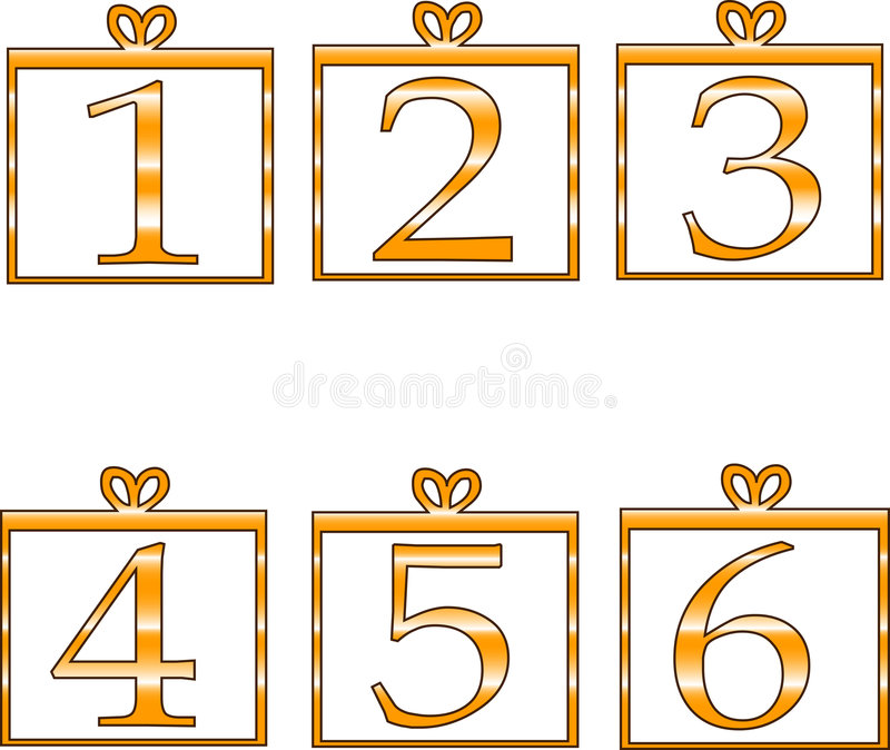 Numbers stock illustration