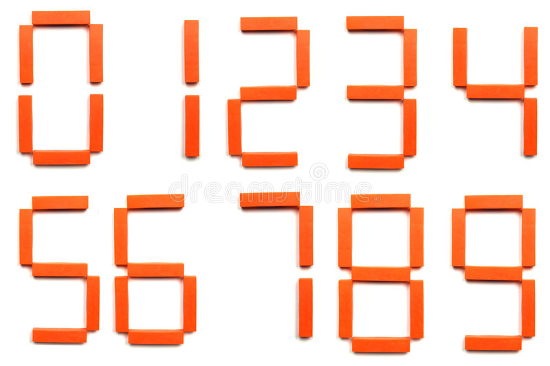 Numbers. 0 1 2 3 4 5 6 7 8 9 digits royalty free stock photography