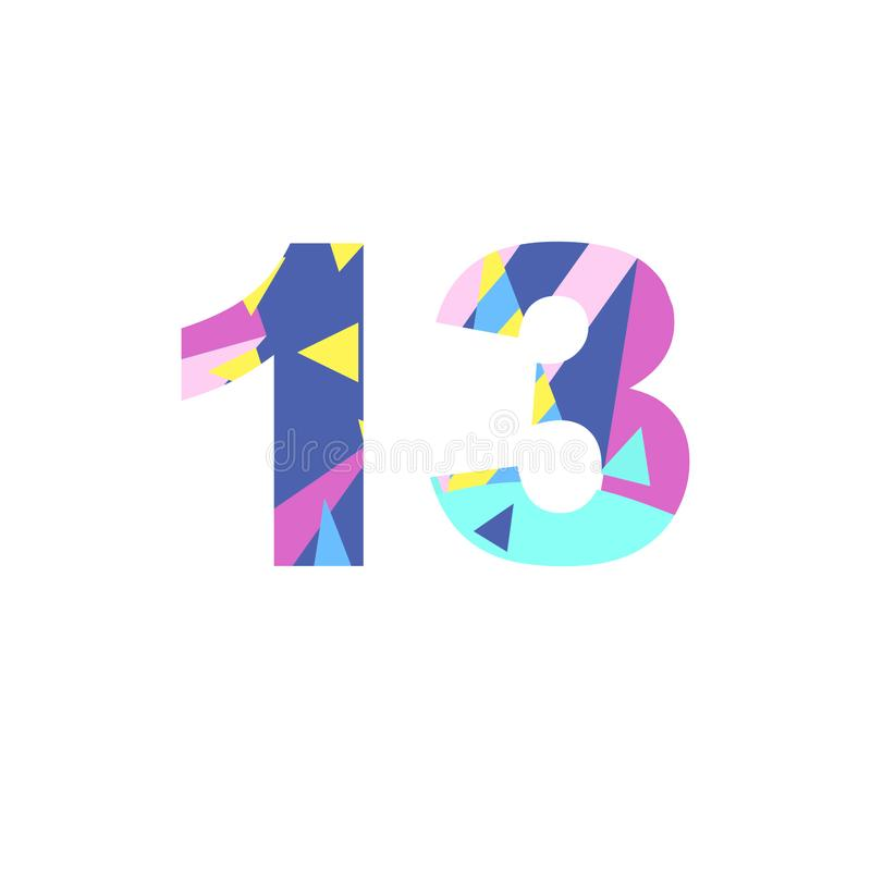 Numbers with abstract fill royalty free illustration