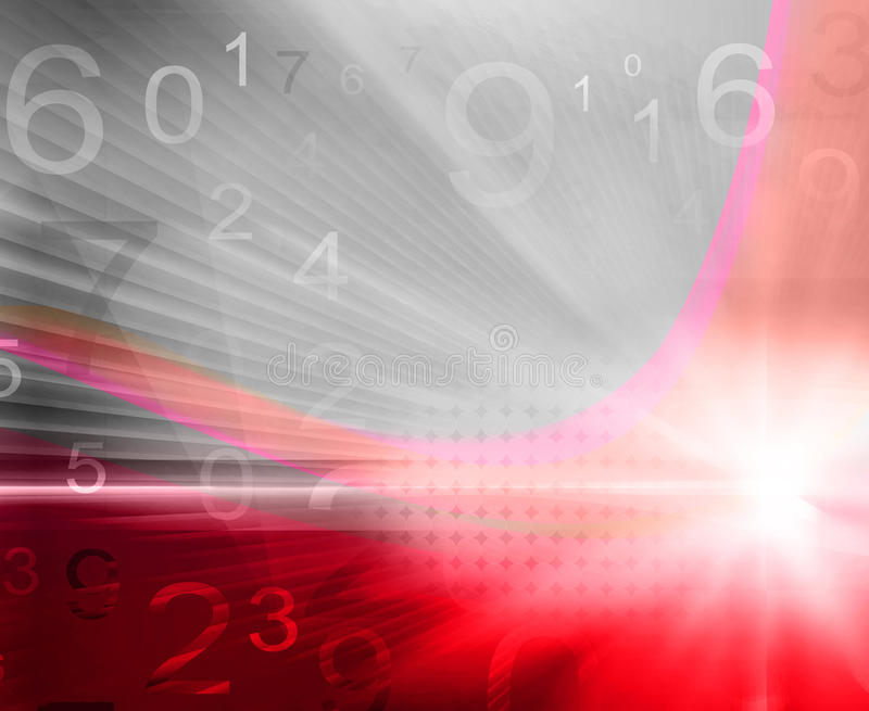 Numbers background. Colorful numbers on red-grey background - illustration royalty free illustration