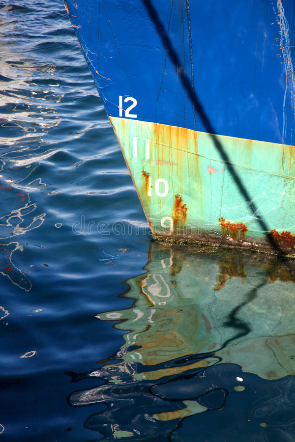 Download Numbers on a boat hull. stock image. Image of depth, harbor - 3300487