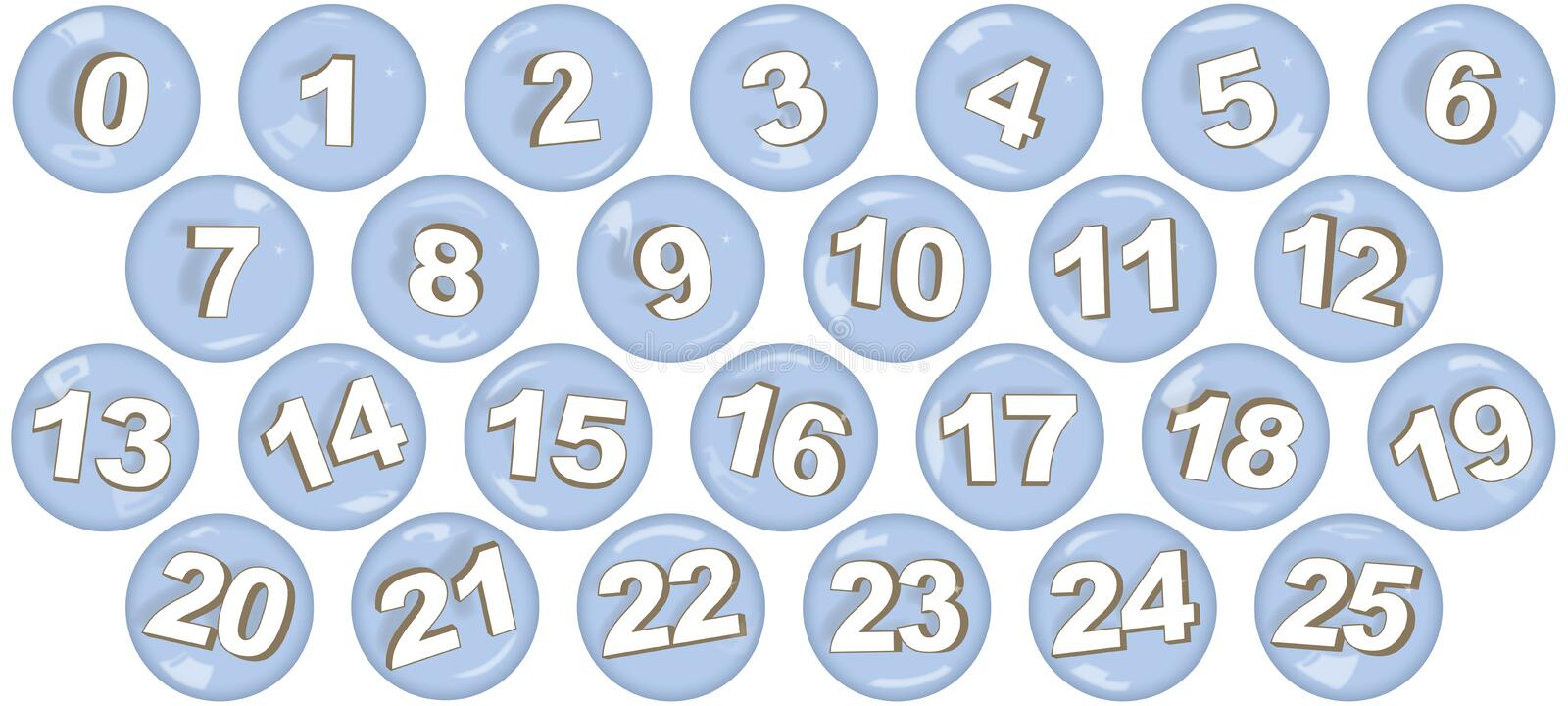 Numbers in bubbles royalty free stock image
