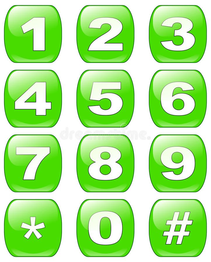 Free Numbers Buttons Stock Photography - 13709662